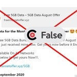 Claim that mobile networks in Nigeria are giving free data is FALSE