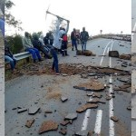 These photos of road being destroyed are from South Africa and not related to #EndSARS protests in Nigeria