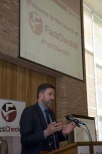 Jim FITZPATRICK. FactCheckNI launch event. Skainos Centre, Belfast, Northern Ireland. (c) Kevin Cooper Photoline