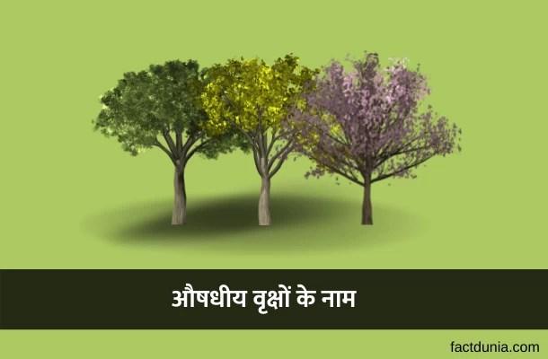 20 औषधि देने वाले पेड़ों के नाम और उनके लाभ