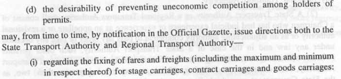 Taxi Fare rules in India - 2