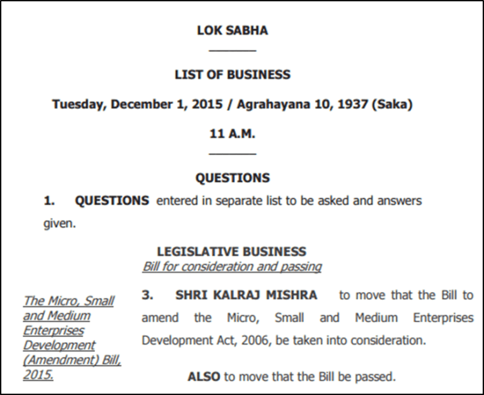 follow the proceedings of Parliament_list of business