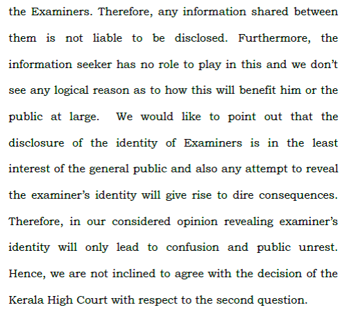 supreme court ruling on answer sheets_examiner information