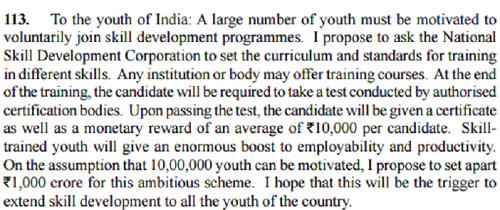 Pradhan Mantri Kaushal Vikas Yojana_star scheme