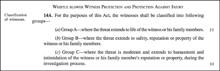interesting Private Member bills_whistle blower protection