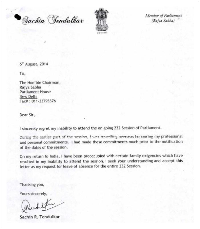 Sachin Rajya sabha_letter 2
