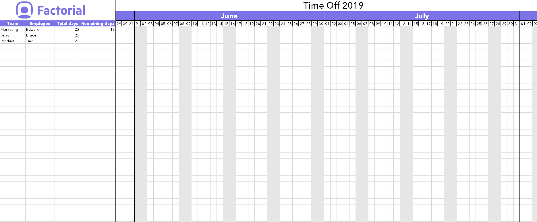 Manage Time Off Requests W Free Template Factorial