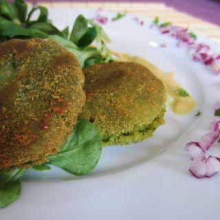 Falafel con salsa de mostaza