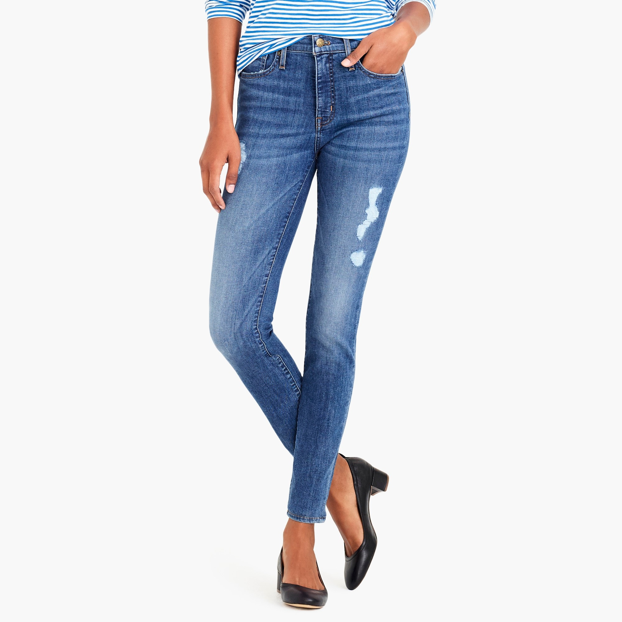Factory womens high rise skinny jean with distressed details also women   jeans denim for sale fit guide jew rh jcrew