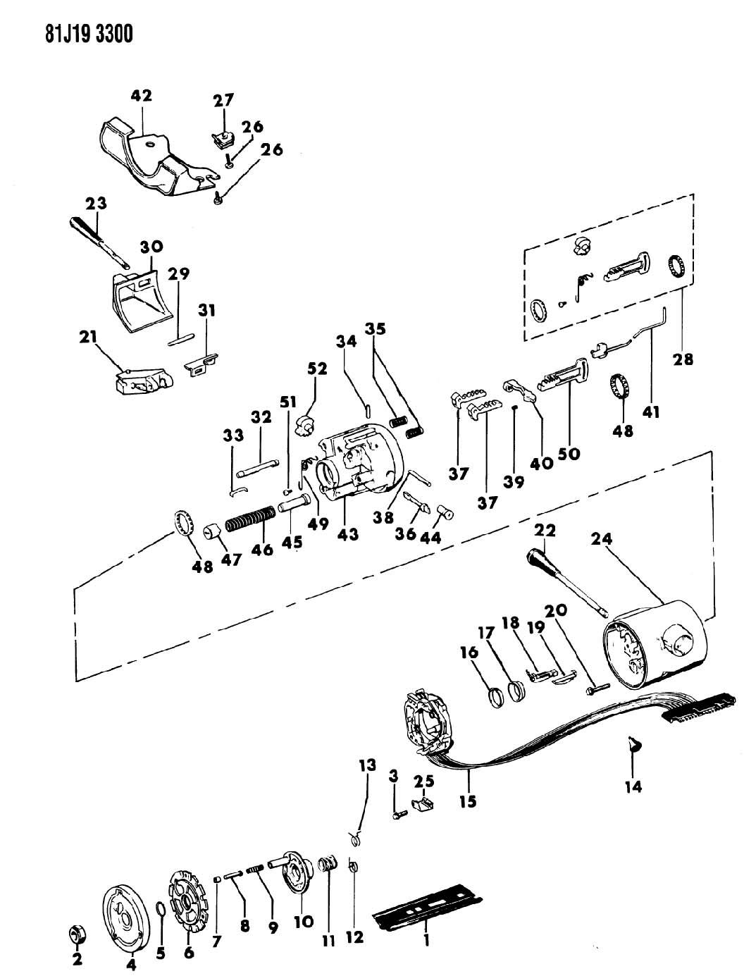 Jeep Housing Steering Column Upper With Floor Shift With Tilt Wheel Sj Wagoneer J10 J20
