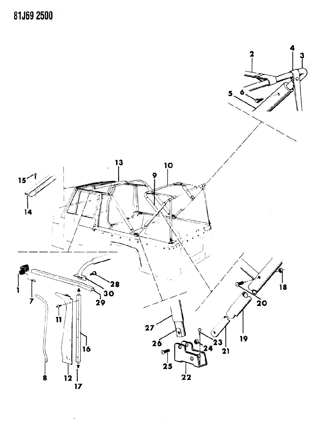 Jeep Wrangler Unlimited Soft Top Parts Diagram Jeep
