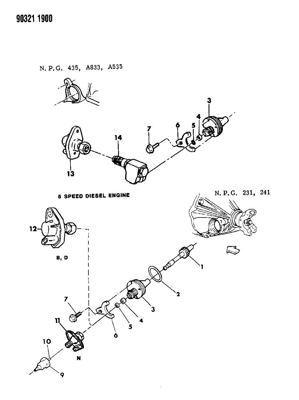 Cable Speedometer With Pinion And Retainer B N D D5 6 7