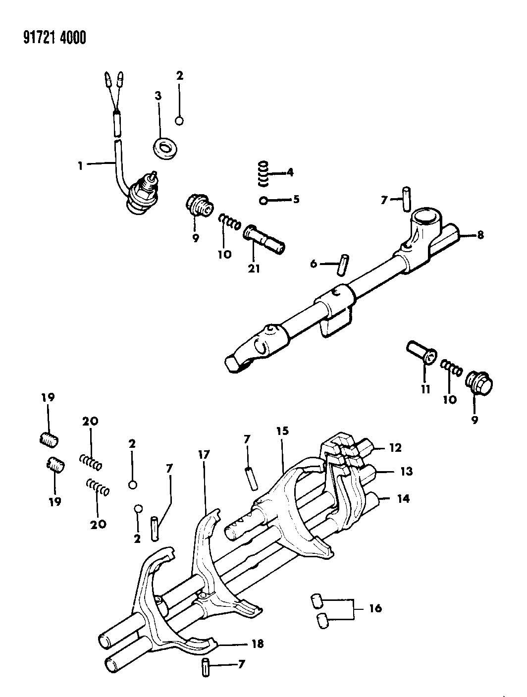 CONTROL, SHIFT MANUAL TRANSMISSION, 5-SPEED 27 RWD, T ENGINE