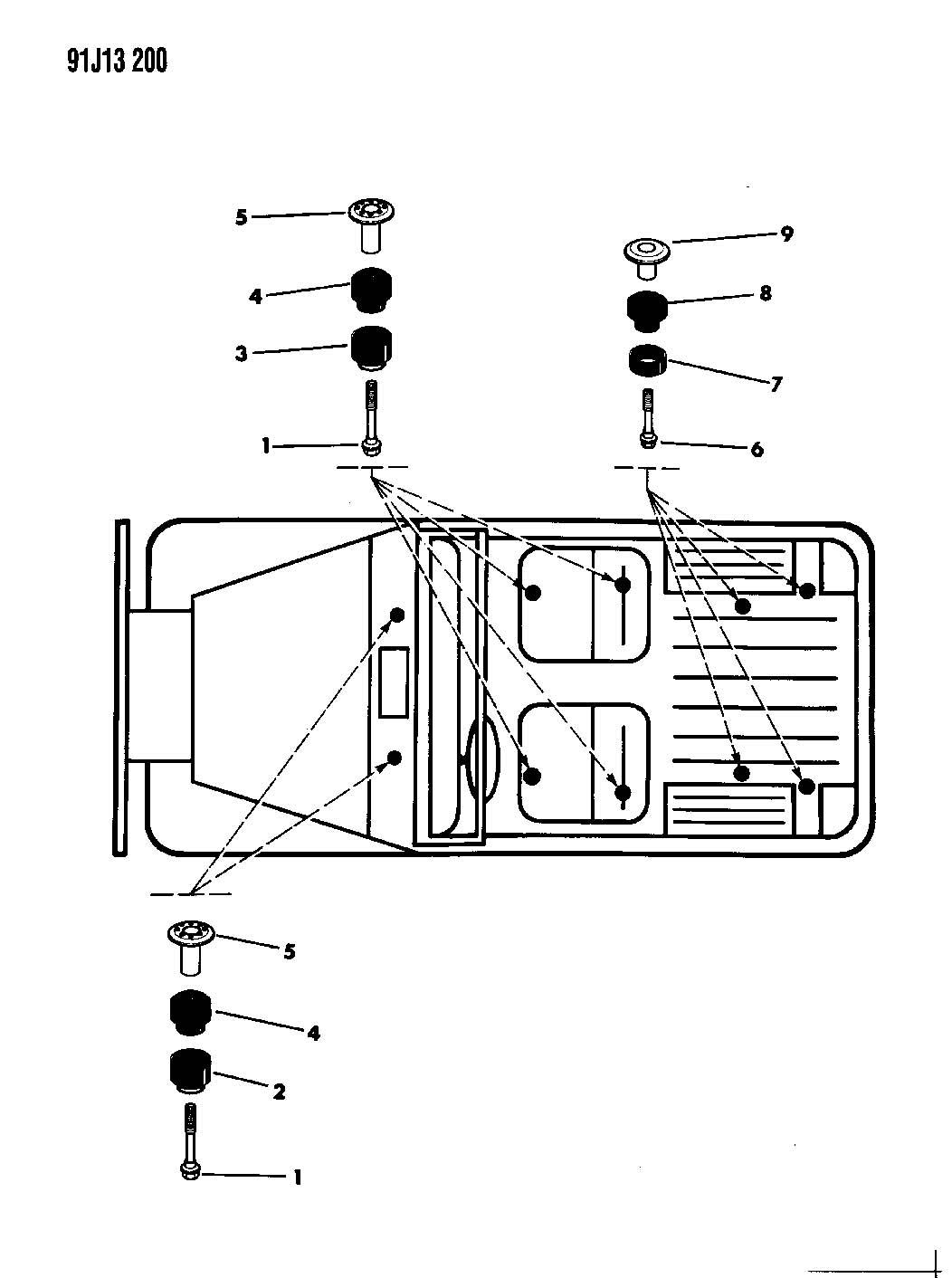 Mounting Hardware Body Wrangler Yj