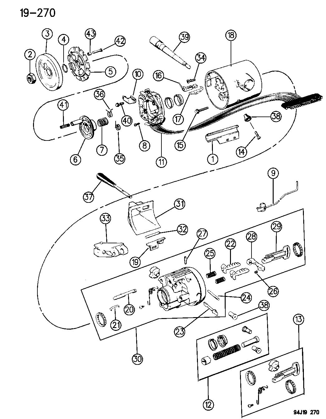 Service manual [Steering Column Removal 1994 Jeep Grand