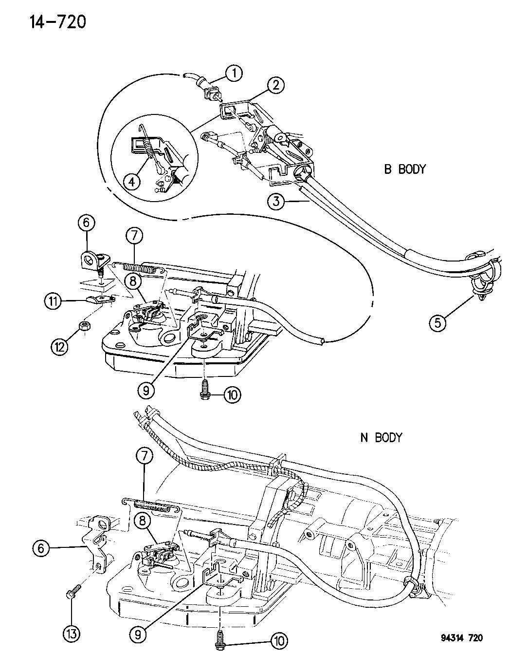 Dodge Dakota 5 2l V8 Mpi 4 Spd Automatic 46rh Throttle Controls 3 9l 5 2l And 5 9l Engine N B