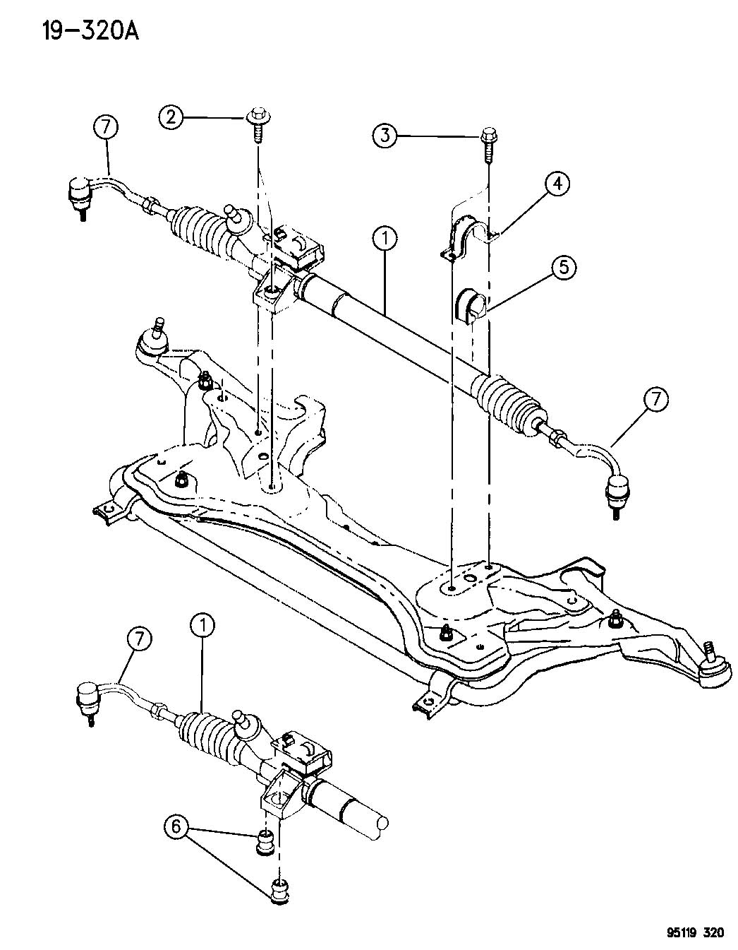 GEAR, RACK & PINION, POWER AND ATTACHING PARTS JA BODY