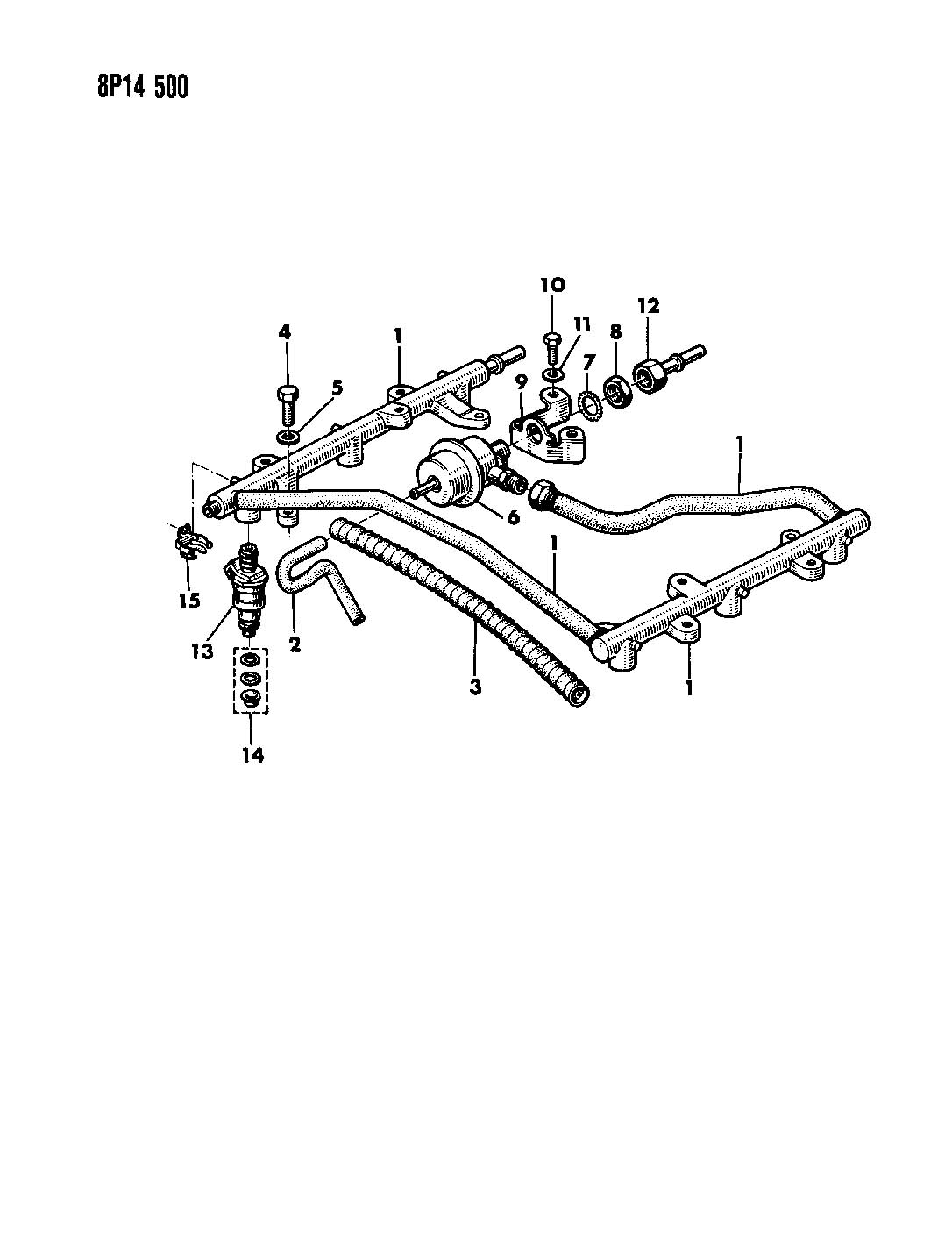 FUEL RAIL AND RELATED PARTS 3.0L ENGINE