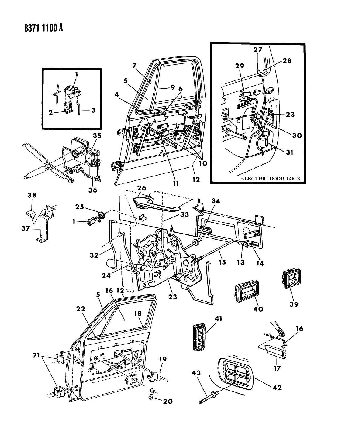 1988 Dodge Ram 150/250/350 DOOR, FRONT D BODY