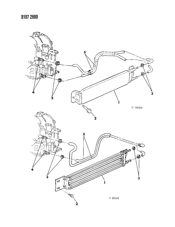 Dodge Grand Caravan Oil Cooler 6 Cylinder Engine