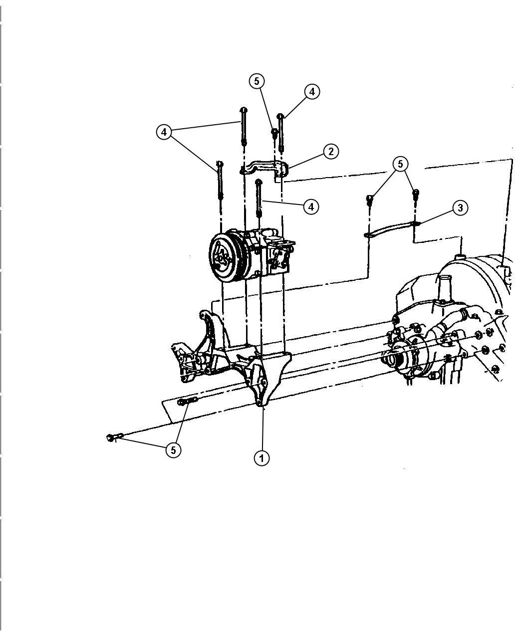 Dodge Dakota Mounting Compressor 3 9l And 5 2l Engine