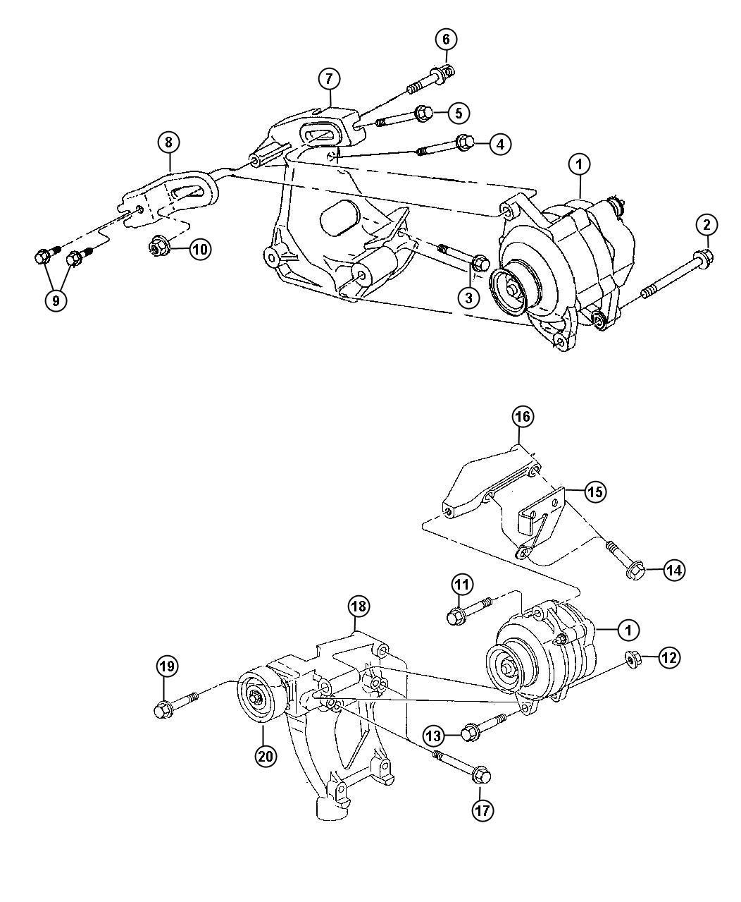 Chrysler Sebring Pulley Diagram