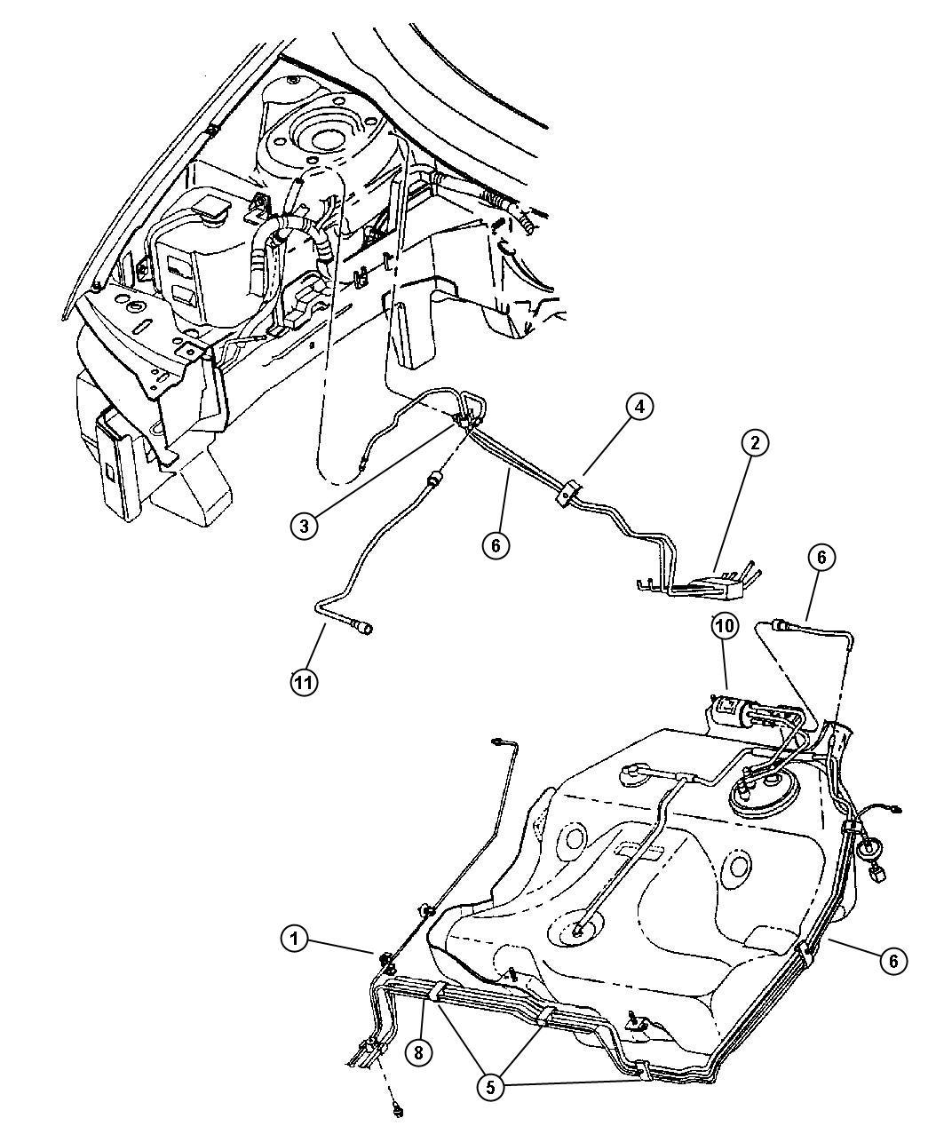 1999 Chrysler Sebring JX Convertible 2.5L V6 SOHC 24V SMPI