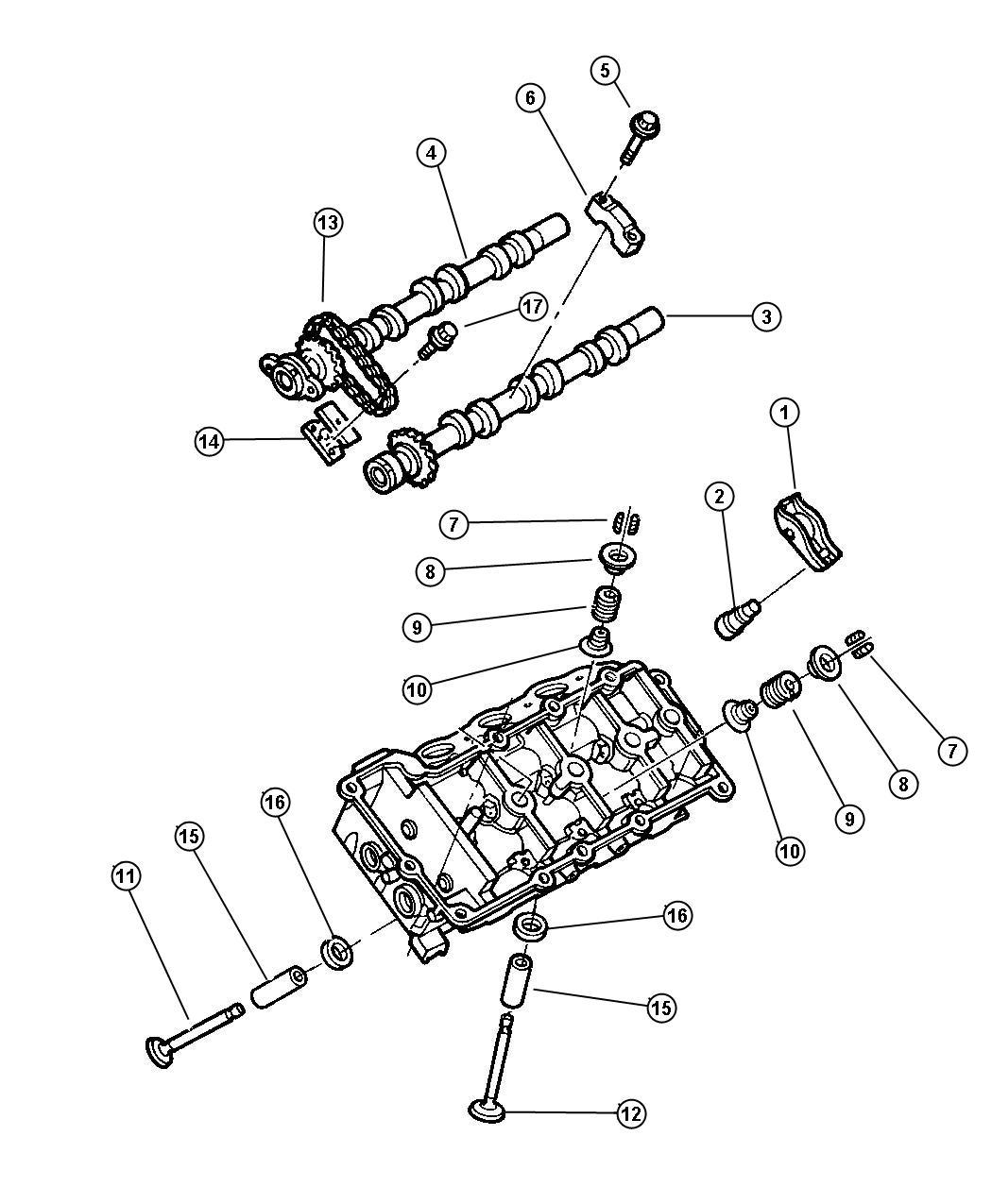Chrysler Concorde Camshaft And Valves 2 7l Engine