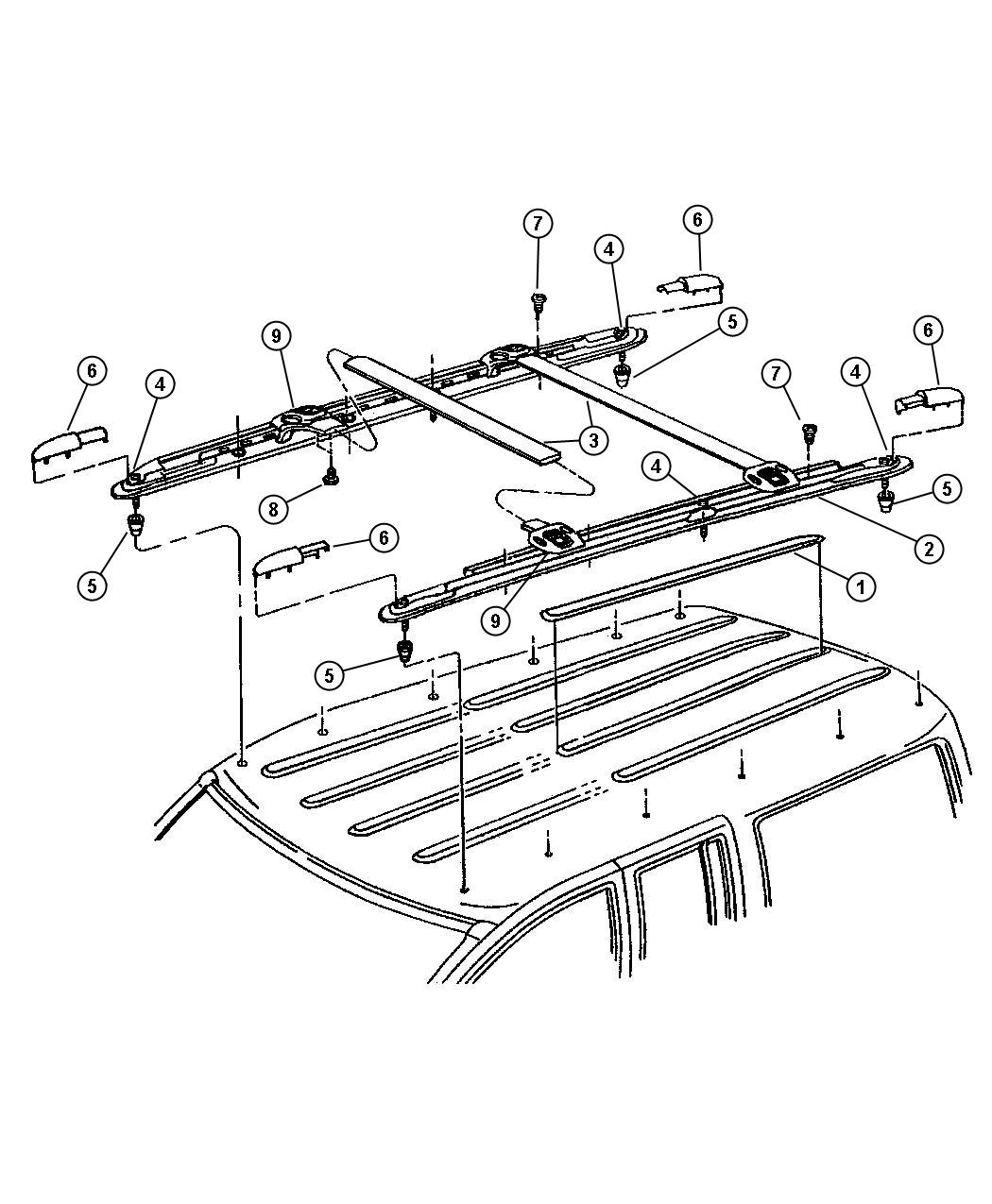 Jeep Grand Cherokee Roof Rack, Limited 5.9 Package