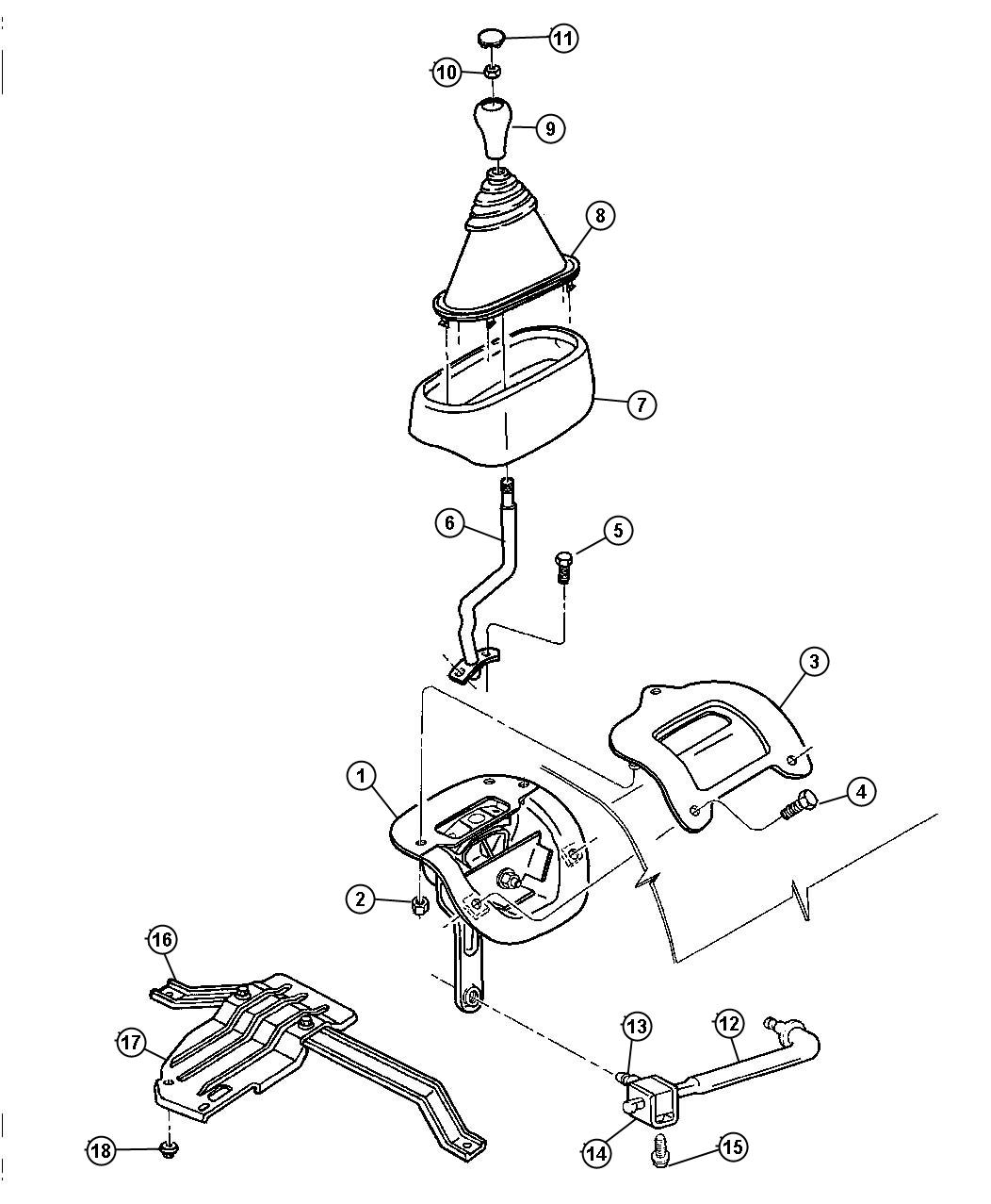 1998 Dodge Ram 1500 Controls, Transfer Case 231 [DHK]
