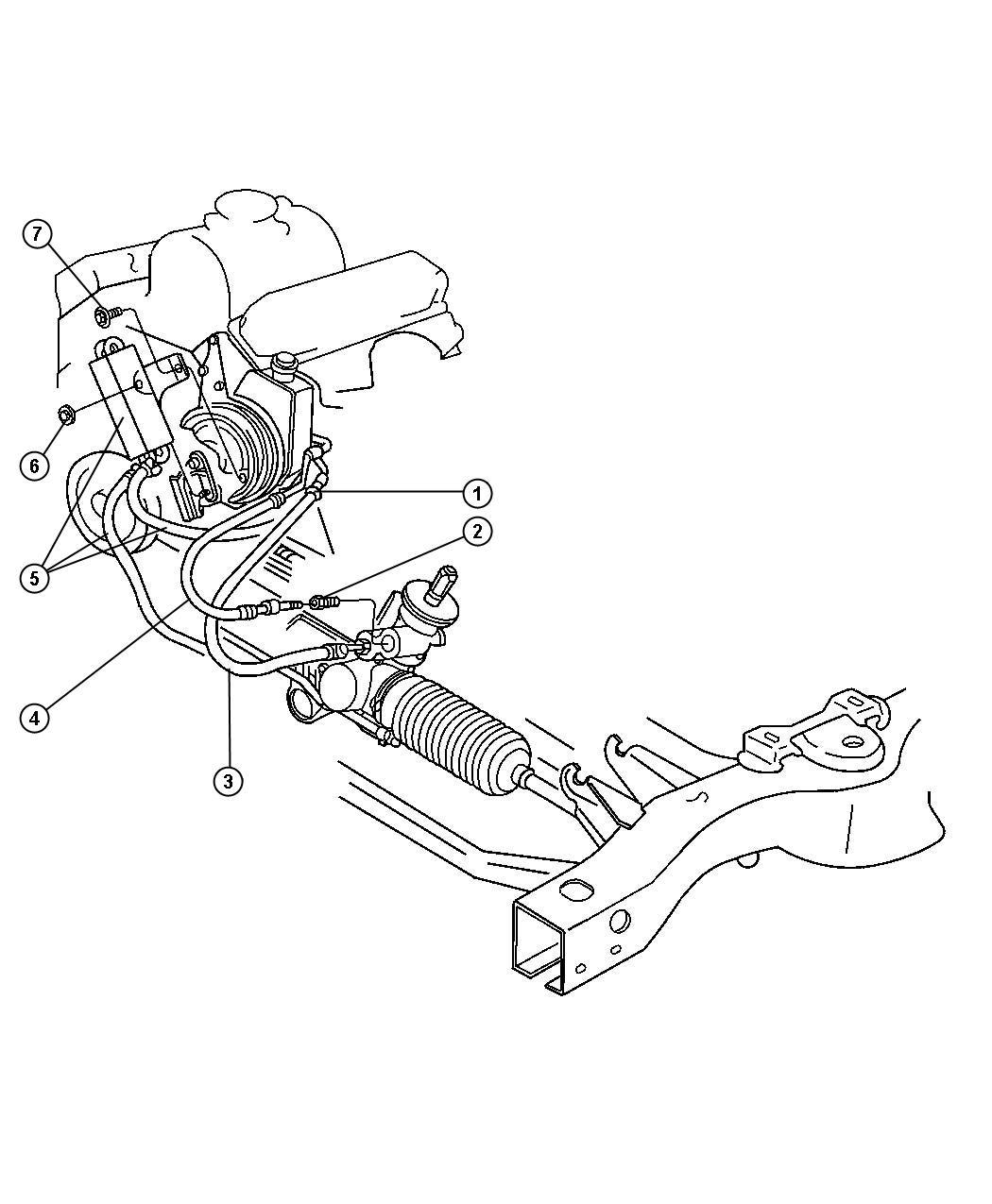 durango power steering pump diagram 97 chevy s10 wiring 1999 dodge hoses with eh0 el0 em0 dn1