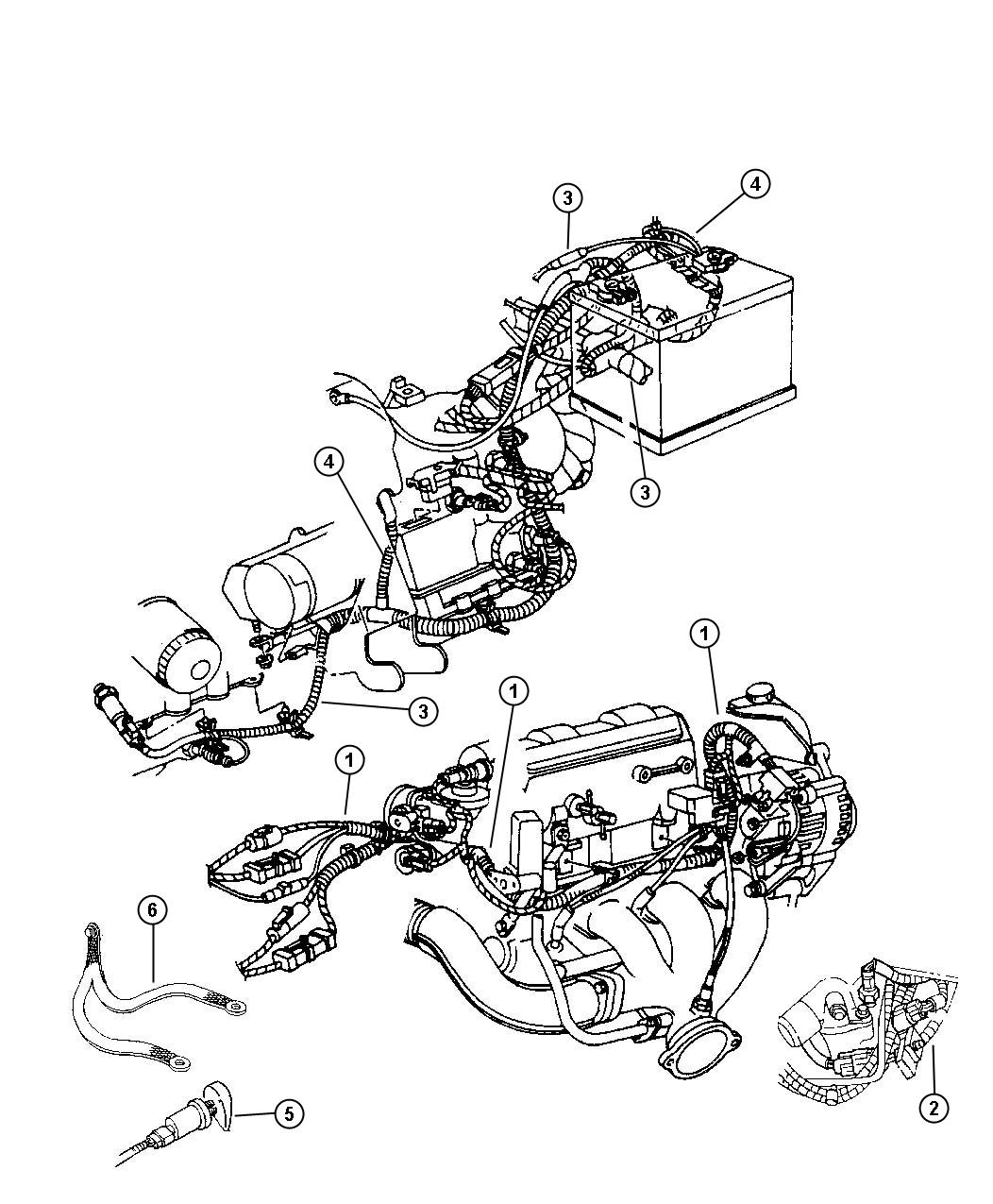 2001 Dodge Intrepid Wiring-Engine and Related Parts