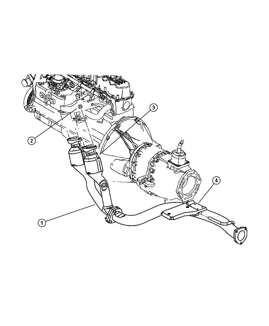 2001 Jeep Cherokee Exhaust System, Front (ERH)