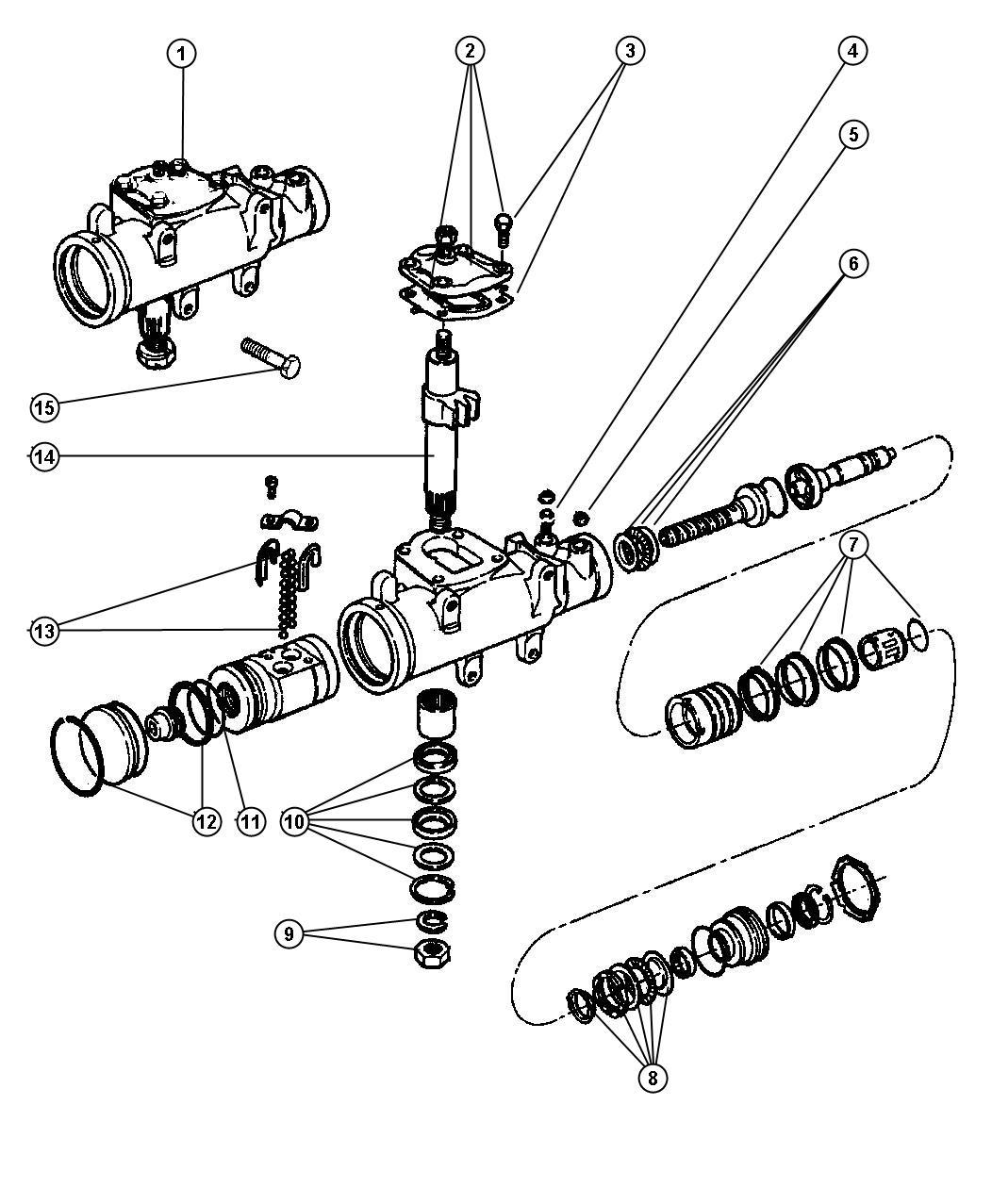 Dodge Ram Power Steering Gear