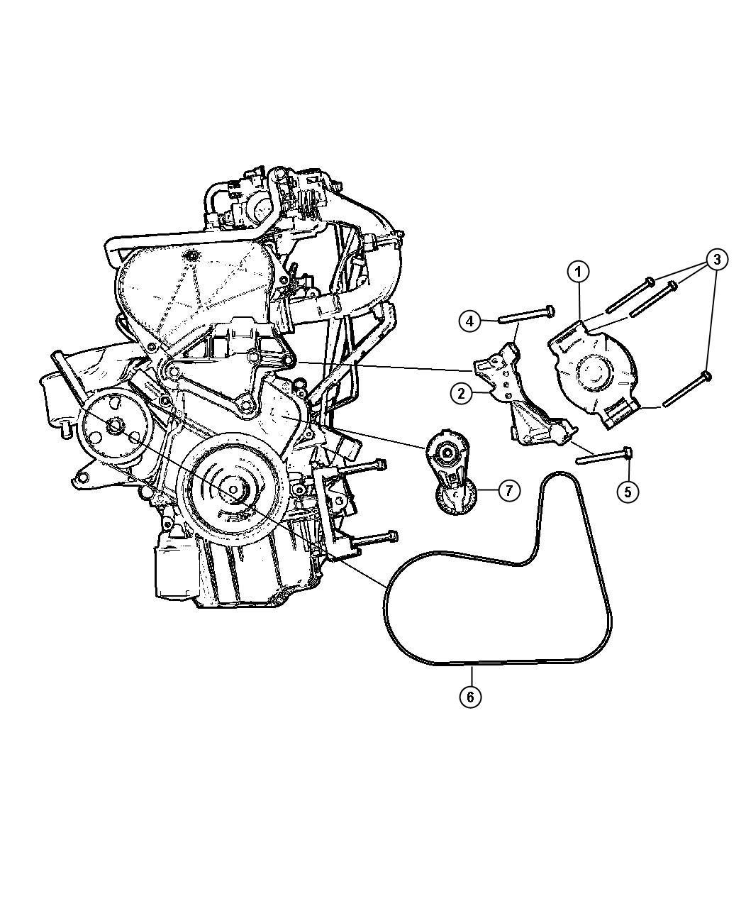 2002 Chrysler Voyager Alternator [2.4L EDZ Engine]