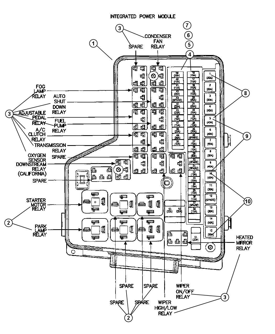 1992 Chrysler New Yorker Relay Location, 1992, Free Engine