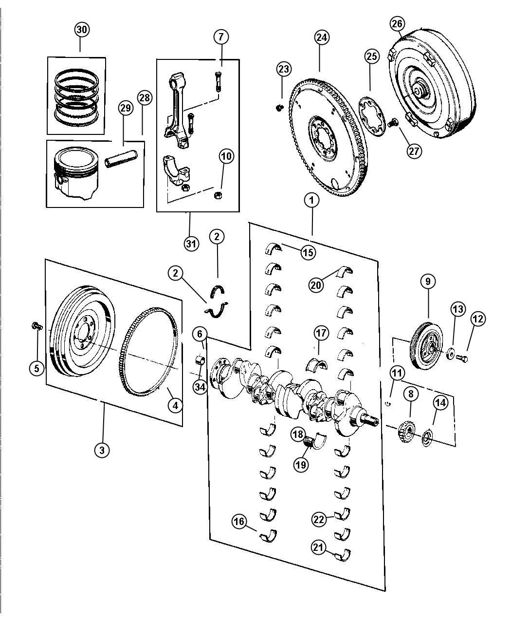 Jeep Grand Cherokee Crankshaft, Piston and Torque