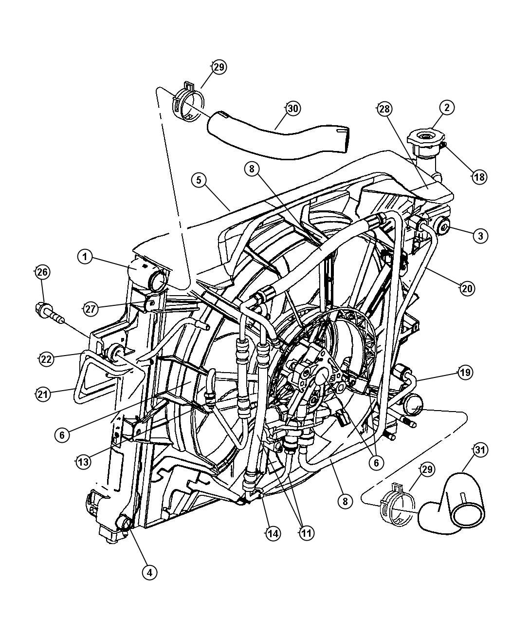Radiator And Related Parts 4 7l Engine