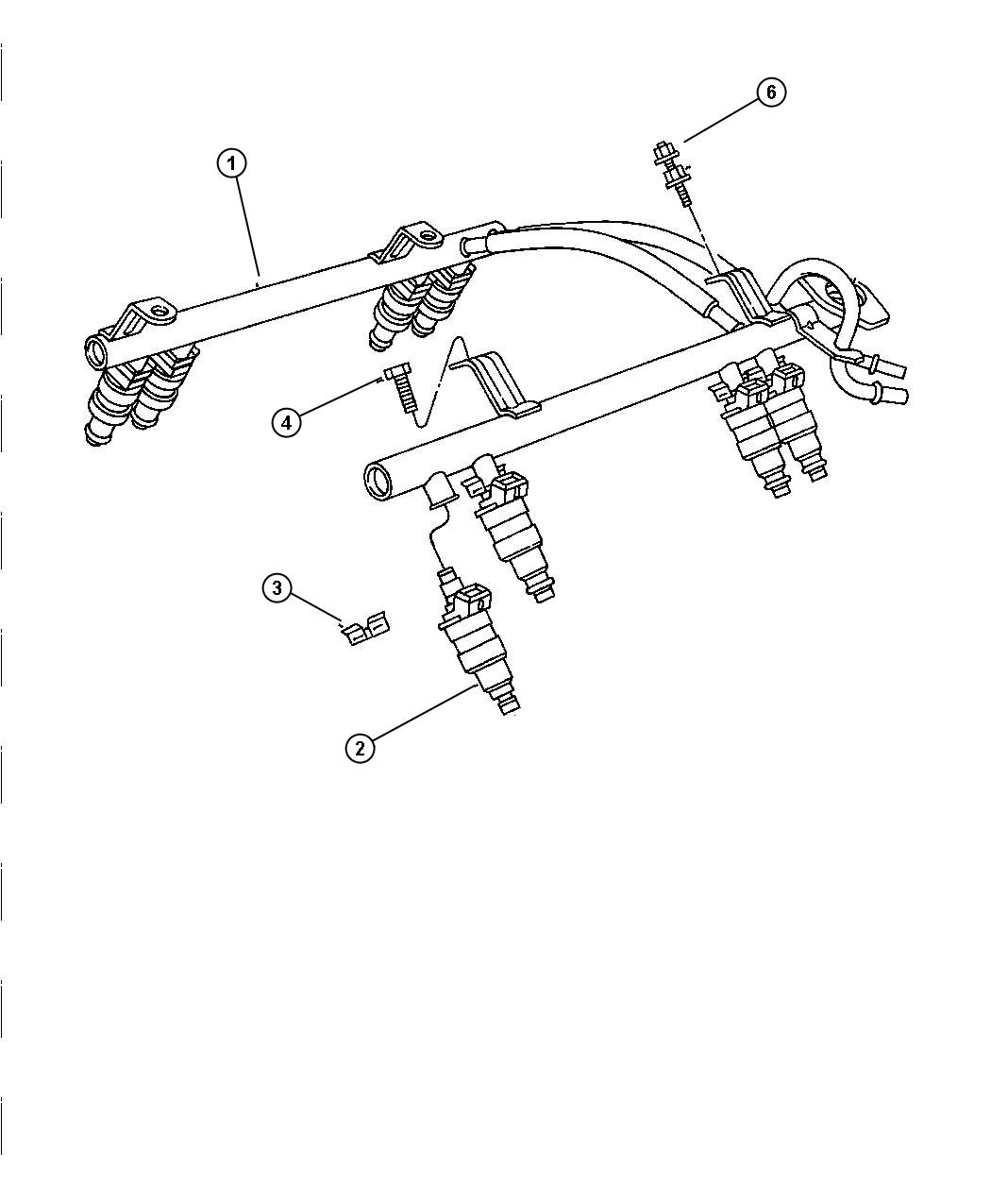 2003 Jeep Grand Cherokee Fuel Rail, 4.0 [ERH], 4.7 [EVA, EVC]