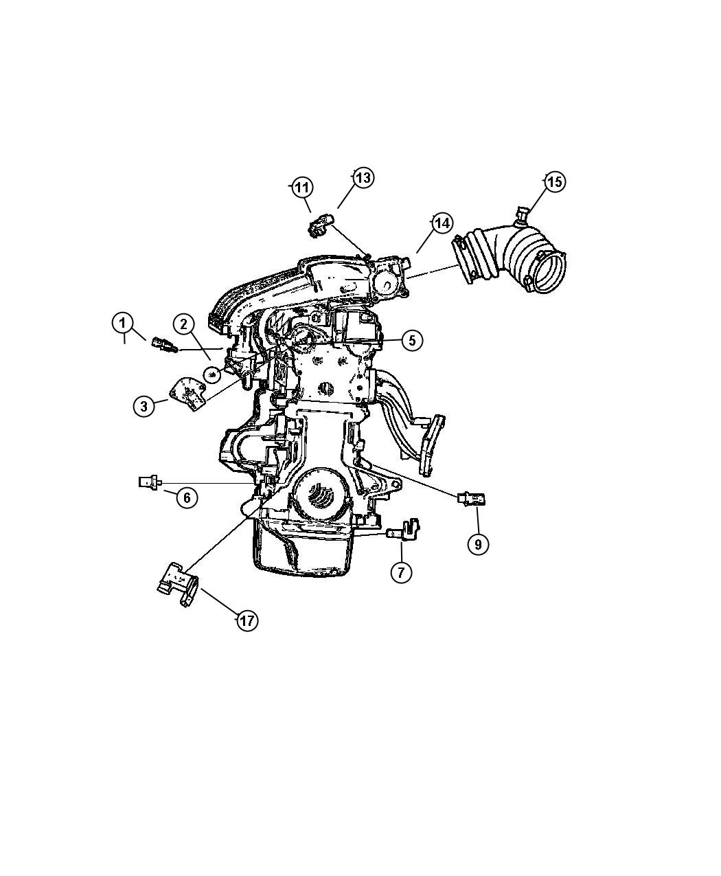 2004 Dodge Stratus Sensors, Engine (2.0-ECC, 2.4-EDZ,EDV,ED2)