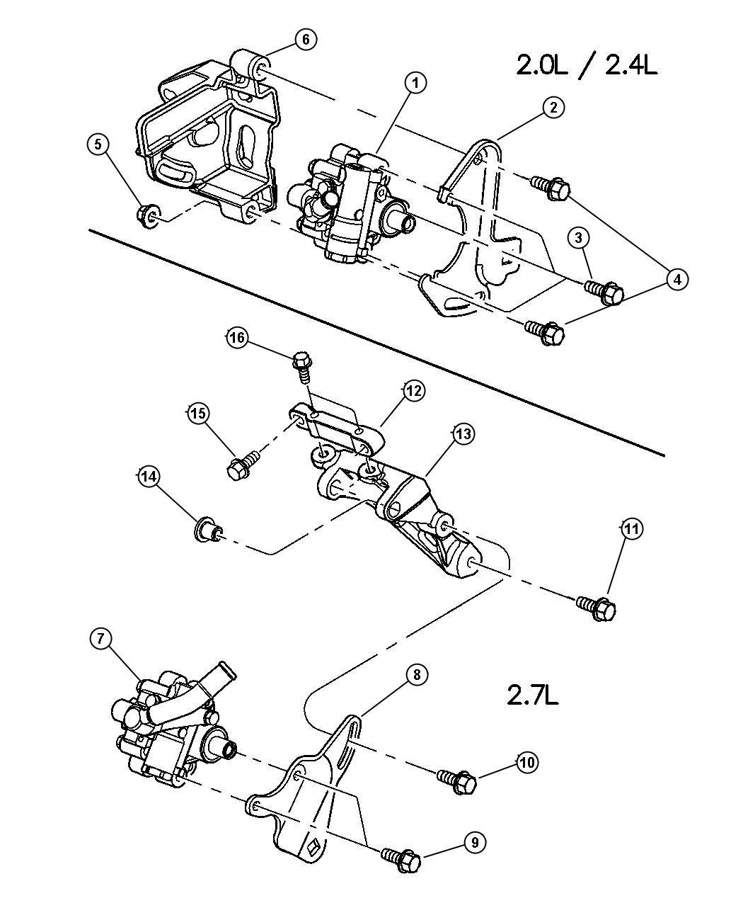 2004 Chrysler Sebring GTC Convertible 2.7L V6 DOHC 24