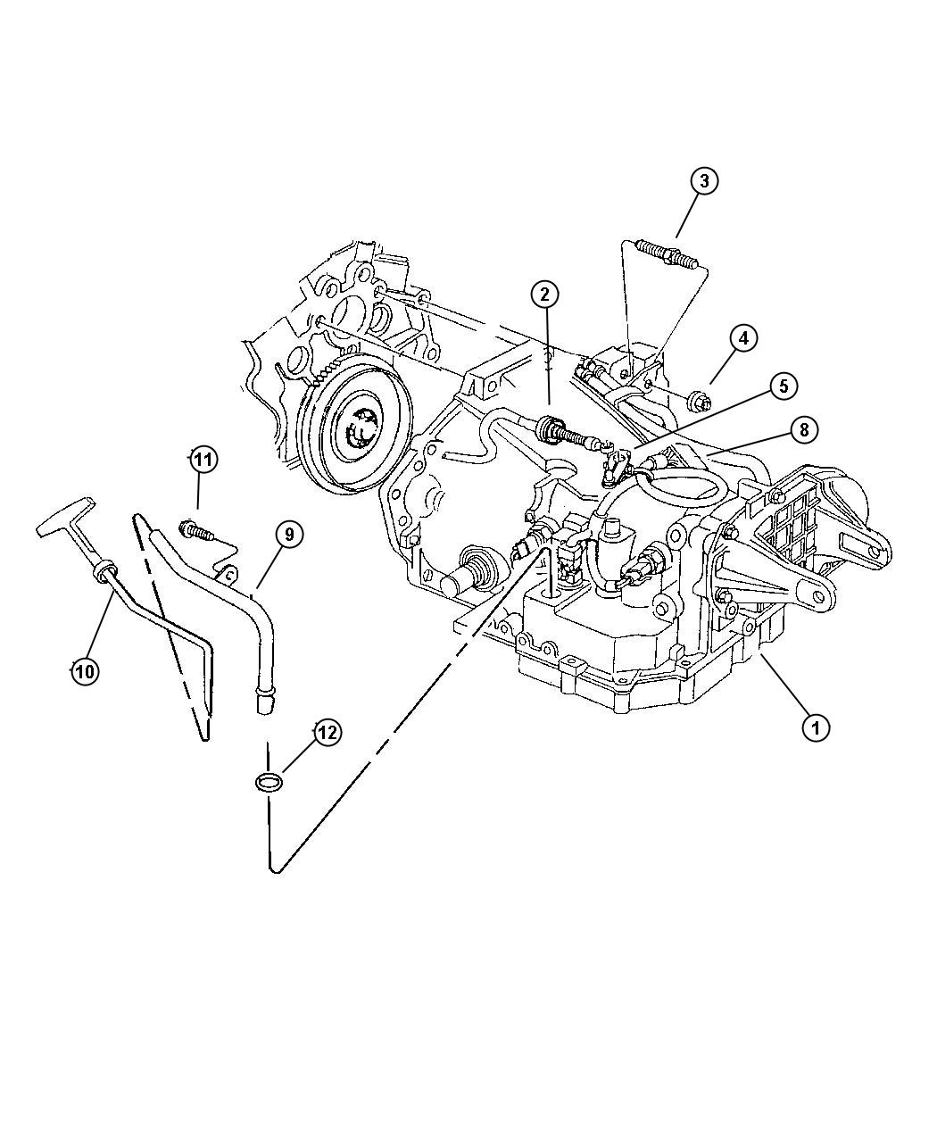 Transaxle Mounting And Misc. Parts Automatic Transaxle, (DGX)