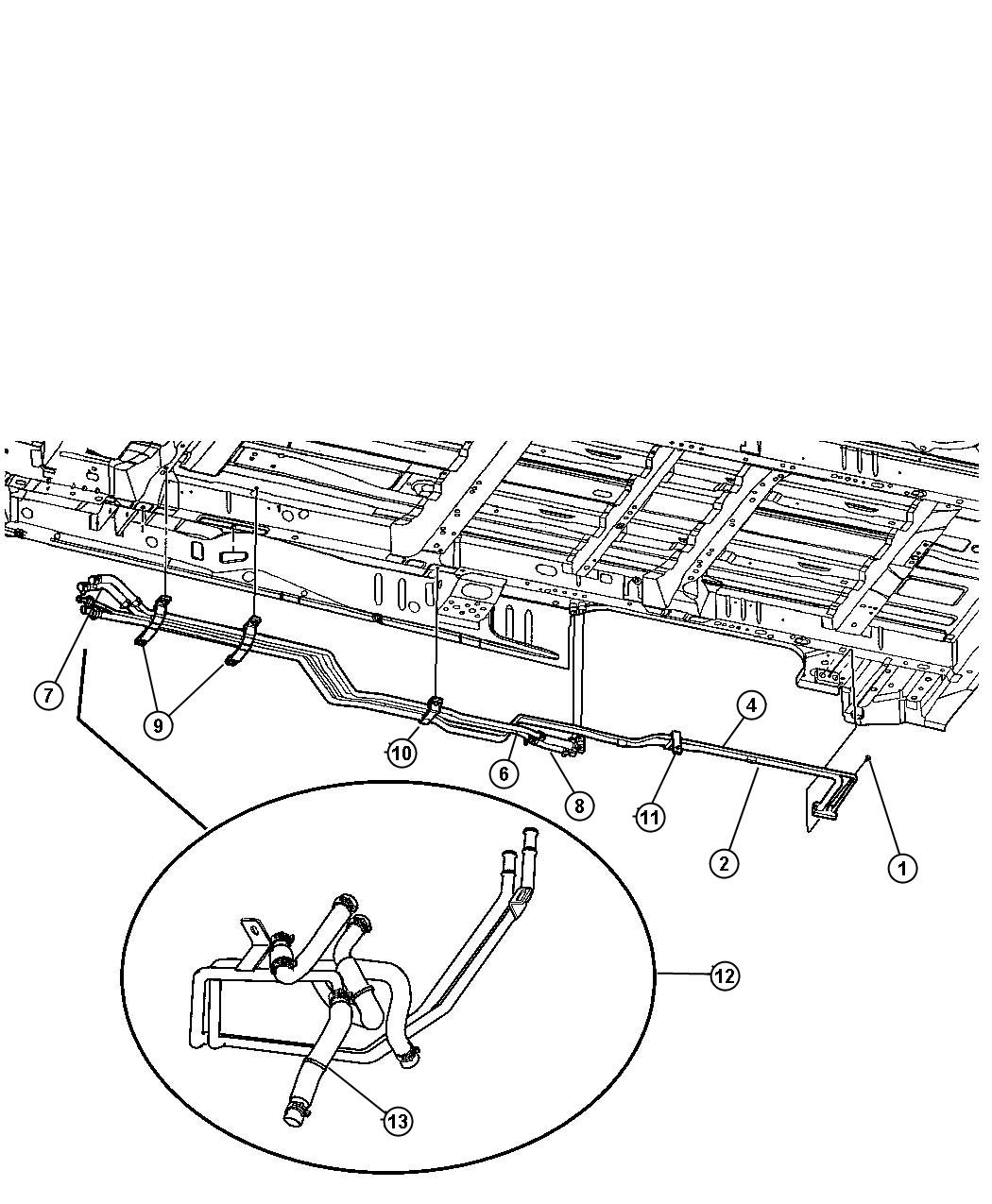 Dodge Grand Caravan Plumbing Underbody Rear