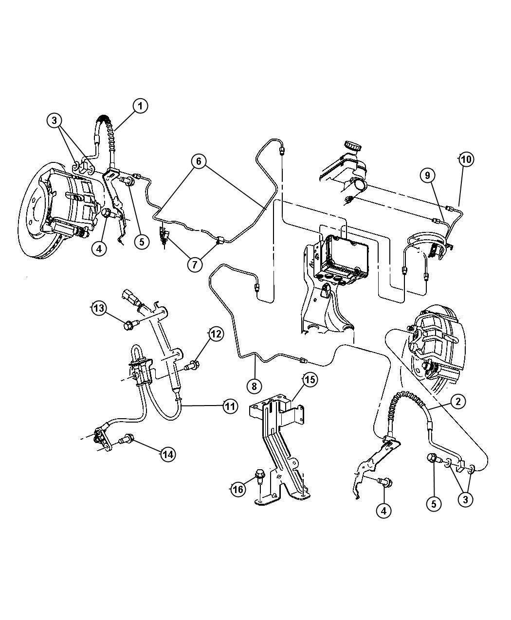 Service manual [2006 Dodge Caravan Brake Line Replacement