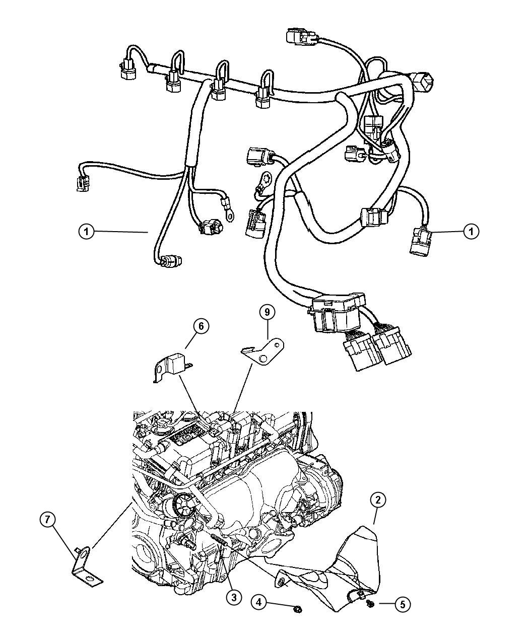 2005 Dodge Neon Wiring, Engine