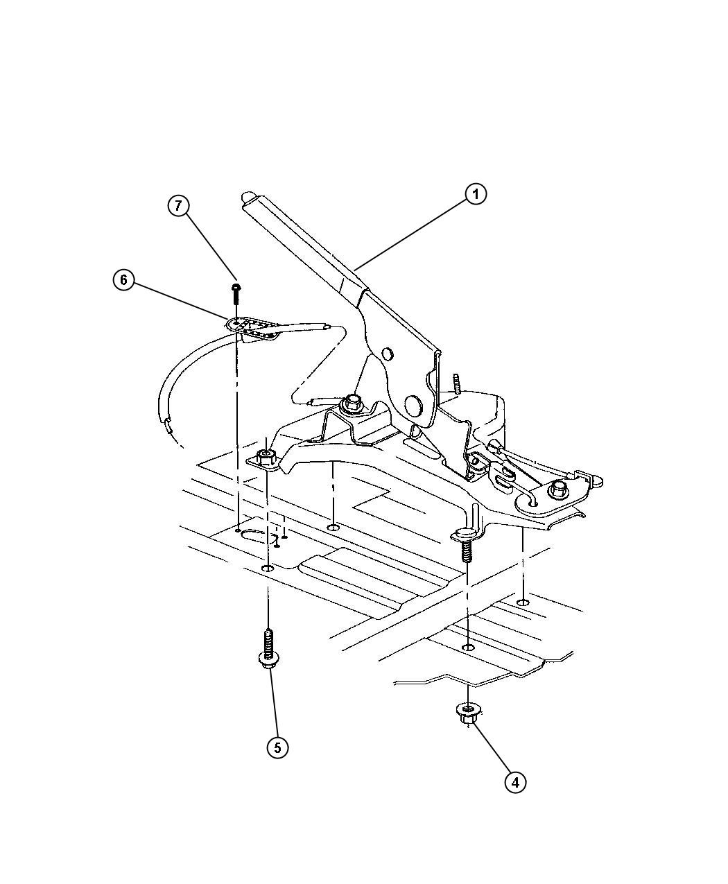 Lever Parking Brake Hand Operated