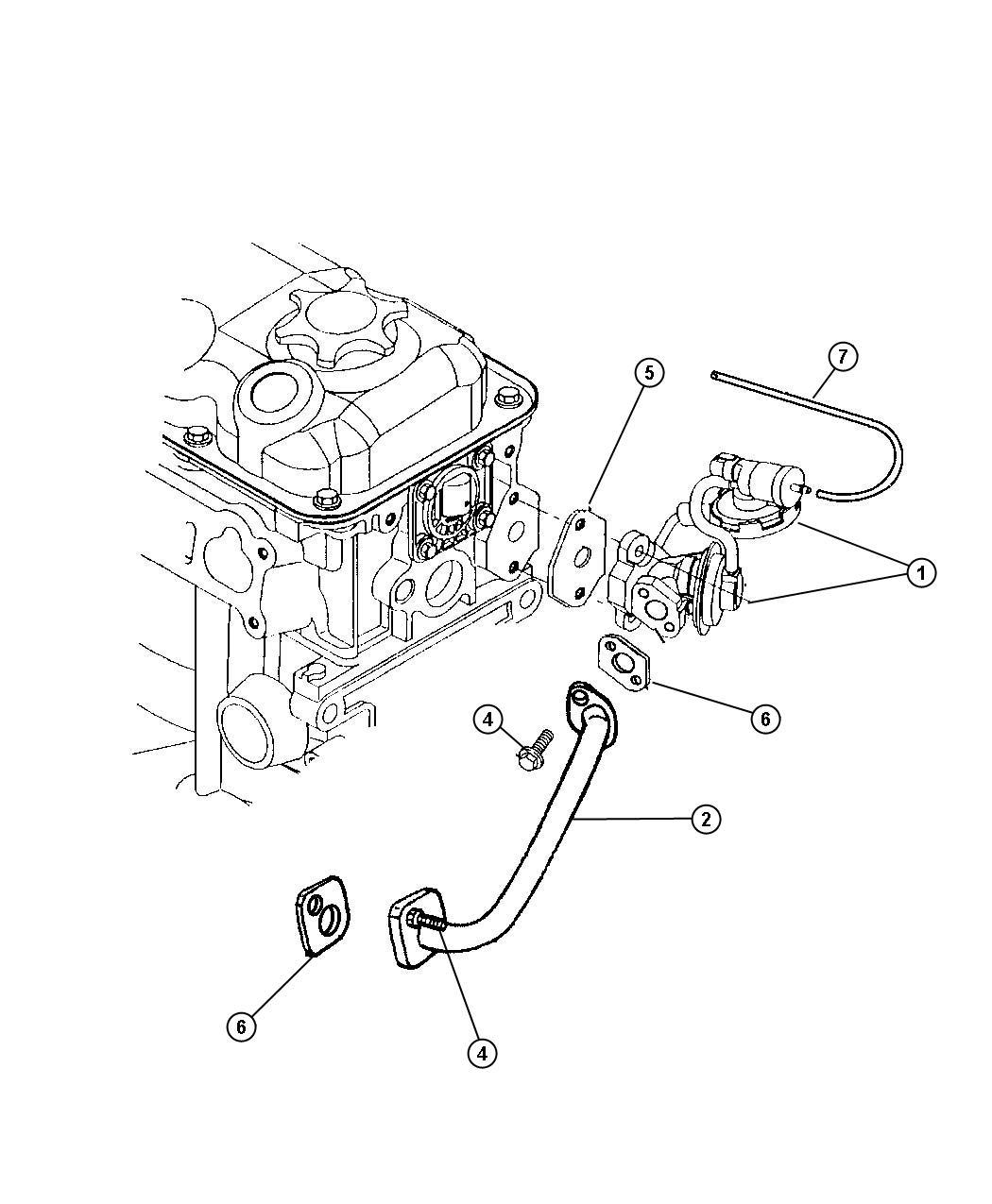 Dodge Neon 2.0L I4 DOHC 16V SMPI, 3-Speed Automatic EGR