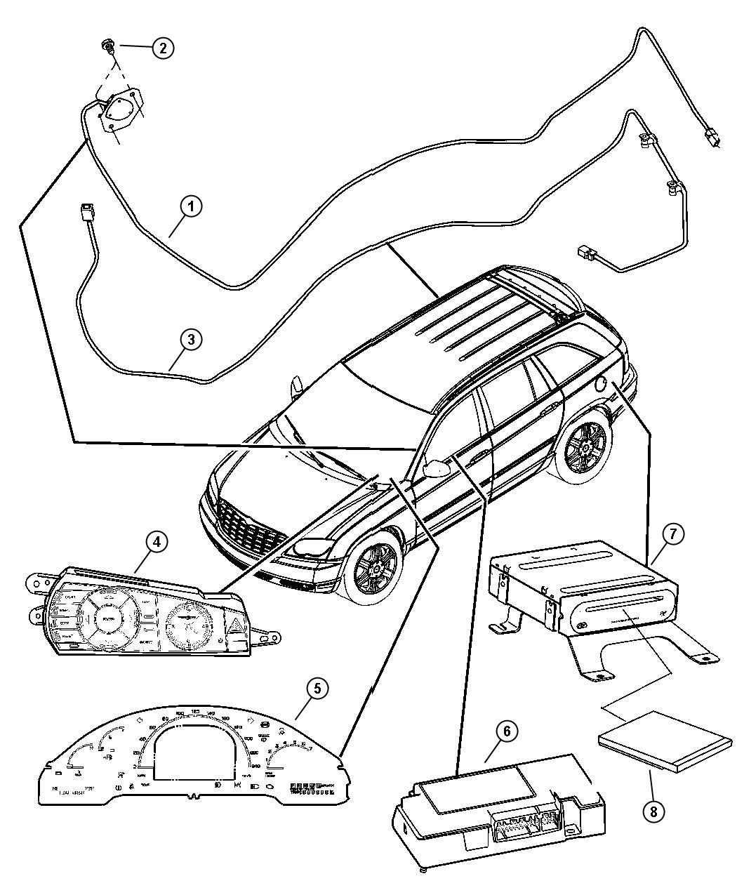 2006 Chrysler Pacifica Navigation System