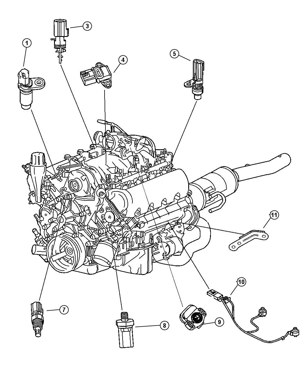 Dodge Dakota Sensors Engine 3 7l Ek0