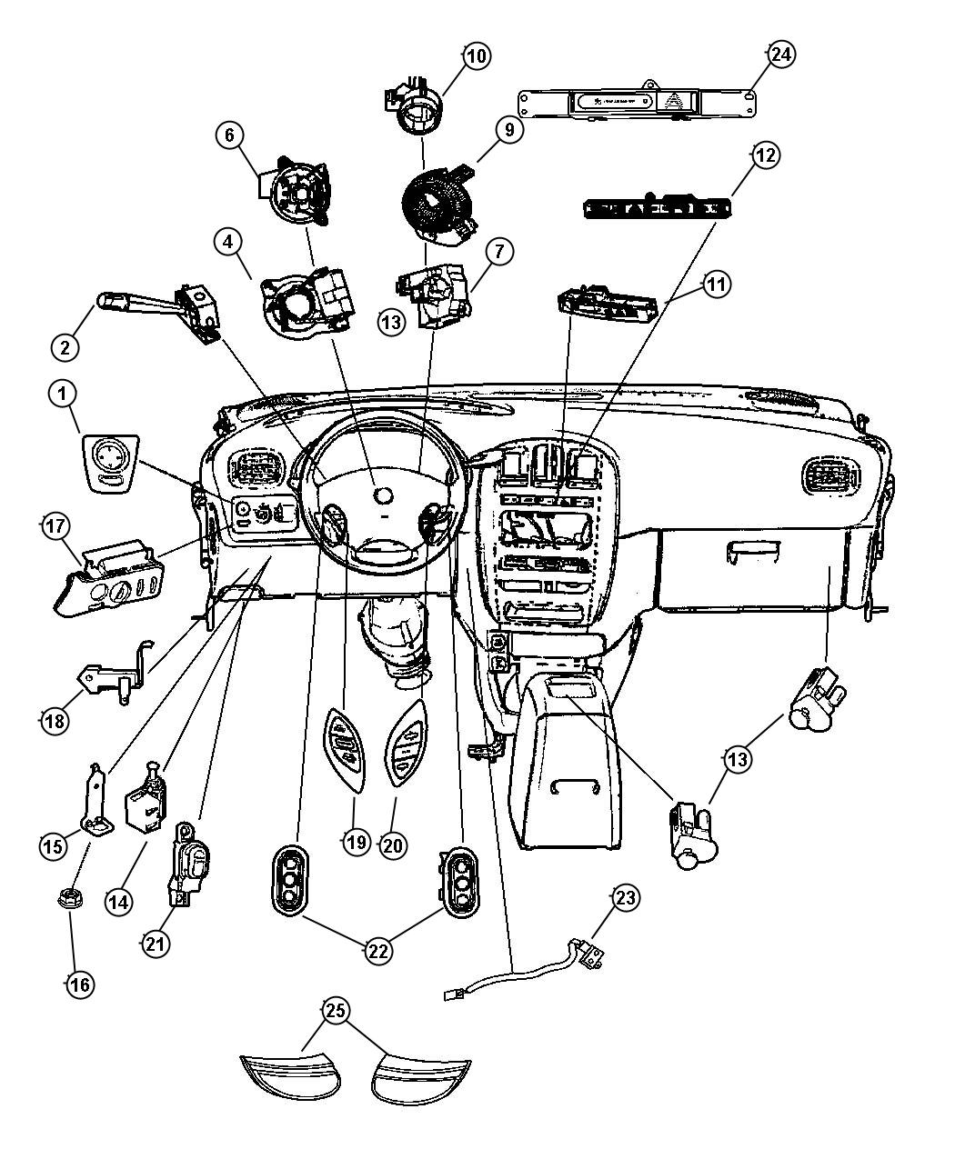2006 Chrysler Town & Country Switches, Instrument Panel